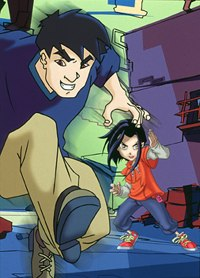 Jackie Chan Adventures typically kicks off each episode with an action scene.  & © 2001 Adelaide Productions, Inc.