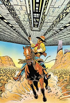 Cowboys & Aliens is a comic book that Platinum Studios is currently developing as a feature film.  & © Platinum Studios, LLC.