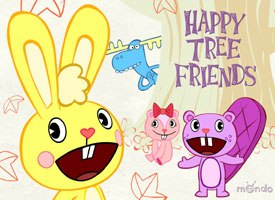 Mondo Media's Happy Tree Friends found a home this year on MTV's Downloaded. The production also served as a basis for Mondo Media's first foray into DVDs and merchandising. © 2000 Mondo Media.
