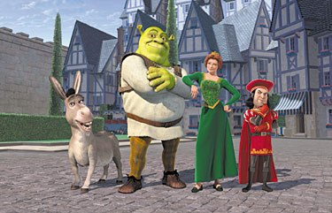 Shrek used many pop-culture references to build comedy effectively. Courtesy of DreamWorks Pictures.