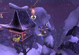 Travis Kotzebue's career path started with a love for comics and cartooning. Now, he's an animator/illustrator for Sly Cooper and the Thievious Raccoonus.All Sly Cooper images © 2002 Sony Computer Entertainment America, Inc.