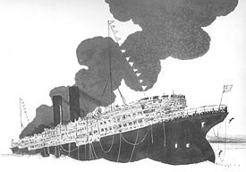 Winsor McCay made the propaganda film The Sinking of the Lusitania, to stir up a nation's emotions against Germany.