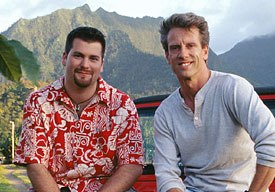 Chris Sanders (right) and Dean DeBlois, co-writers and co-directors of Lilo & Stitch. All Lilo & Stitch images © Disney Enterprises, Inc. All rights reserved.