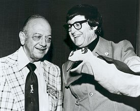 Bob Clampett, seen here with Mel Blanc, regaled the young Kricfalusi with stories about Warner Bros. animation. All Bob Clampett photos courtesy of the Bob Clampett Collection  & © Bob Clampett Productions.