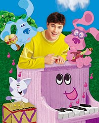 Blue's Clues took educational television to a new level by introducing an interactive component. Children were asked to actively participate in the lessons being taught. Credit: Nickelodeon.