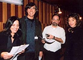 Anima Mundi's festival directors in 2002 were (left to right): Aida Queiroz, Marcos Magalhães, Cesar Coelho and Lea Zagury. Courtesy of Anima Mundi. Photo credit: Juvenal Pereira.