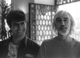 David Silverman (left) cherished the time he spent with fellow guest speaker Paul Driessen in 1993. Courtesy of Anima Mundi.