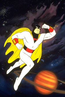 It's dubious whether partners Jan and Jace did Space Ghost any good. Courtesy of Cartoon Network.