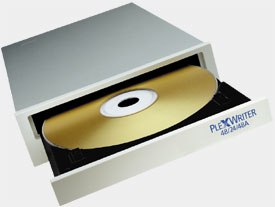 A nice addition to any system is a burner like this 48x CD-RW made by Plexwriter.