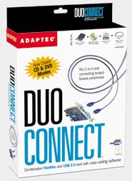 Adaptec's DuoConnect card installs extra Hi-Speed USB and Firewire ports in a snap.