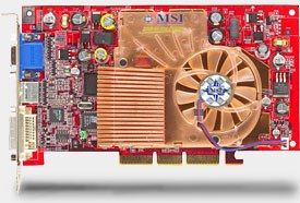 The MSI Ti4600 is a dual screen card which performed impressively in 3D tests.