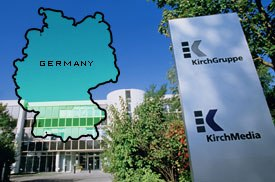 The recent downturn in the German economy, specifically the stock market, has contributed to the KirchMedia bankruptcy and other shake-ups in the media. Photo courtesy of KirchMedia GmbH & Co KgaA.