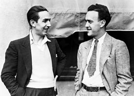 Ub Iwerks was seminal to the creation of Micky Mouse. Here, he's seen with Walt Disney (left), circa 1932. © Disney Enterprises, Inc.