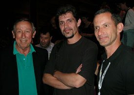Disney vice chairman Roy Disney, director Dominique Monfery and producer Baker Bloodworth following the premier screening of Destino at Annecy.