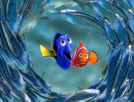 Pixar wanted Finding Nemo to combine photo-realistic water with caricatured fish.