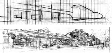 These roughs were created by my first-year layout student, Erick Levesque.
