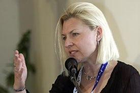 Author Heather Kenyon moderated the
