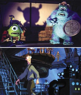 Monsters, Inc. (top) and Atlantis (bottom) jumped into the wireless fray when Disney and Sprint announced a game partnership. Monsters, Inc.: © Disney/Pixar. Atlantis: © Disney Enterprises, Inc. All rights reserv