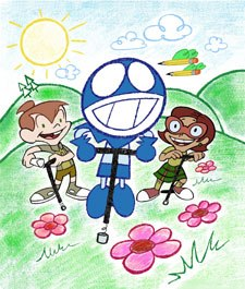 Seibert and Larry Huber assembled a talented team for ChalkZone. Courtesy of Nickelodeon.