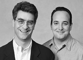 Emil Rensing (right) and Seibert are partners in an online consulting business. Photo credit: Elena Seibert.