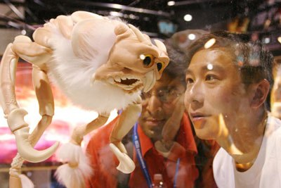 Some visitors were still wowed by some of the wonders at SIGGRAPH.