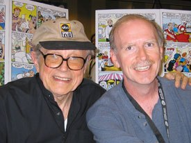 George Gladir (left in hat) has been writing for all the Archie titles for 40+ years and created Sabrina, The Teenage Witch while Craig Boldman writes the Jughead comic book and the Archie syndicated comic strip.