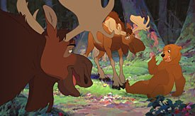 Rick Moranis and Dave Thomas only agreed to voice moose Rutt and Tuke if they werent just going to recycle the Mackenzie Brothers.