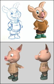 The evolution of Piggley.