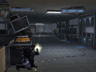 kill.switch lets the player use realistic cover tactics such as hiding behind environmental set pieces during gameplay.