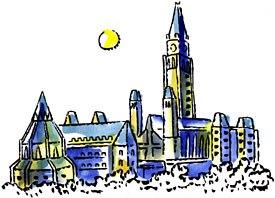 Life happens in Ottawa. Original artwork courtesy of Chris Lanier (apologies to the Ottawa skyline).