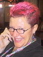 Joan Lofts sports Peppa Pig pink hair. © AWN.