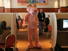 The Pink Panther makes an appearance at MIPCOM Jr. © MIPCOM.