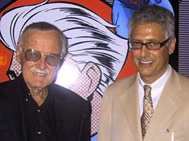 Legendary Stan Lee stands with DIC head Andy Heyward. © AWN.