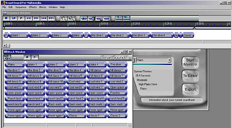 SmartSound. A quick, high-quality, semi-custom music software.