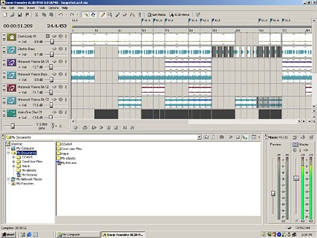 Acid. A high-quality music composition and looping program.