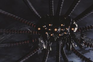 With each Matrix installment, ESC had to top itself. Above, the Sentinel descends upon the Swarm in Revolutions. Courtesy of ESC Entertainment.
