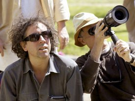 Tim Burton on the set of Big Fish. All images, unless otherwise noted, © Columbia TriStar. All rights reserved.