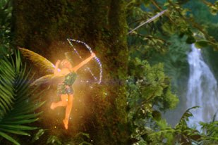 ILM needed to develop new software to seamlessly integrate Tinker Bell into the film. Credit: Industrial Light & Magic.