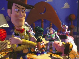 Toy Story carried its analogy through from start to finish. © Disney Enterprises Inc.