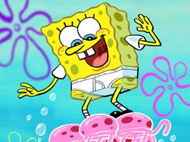 Besen argues that SpongeBobs style helps sell the combination of human and animal-like attributes. © Nickelodeon.