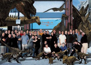 Framestore artists work on Walking with Dinosaurs woke the world up to what was being done in the U.K. © Framestore CFC.