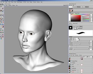 [Figure 4] General BodyPaint interface.