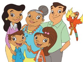 PBS hopes to attract the growing Hispanic demographic with the new bilingual series, The Misadventures of Maya and Miguel. © Scholastic Entertainment.