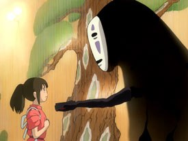 Even though Spirited Away earned the Best Animated Feature Oscar, that accolade didnt pump up its office grosses. © 2002 Nibariki. TGNDDTM. All rights reserved.