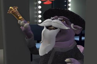 Game Over shows its wild humor when 300-pound family pet Turbo dons a rabbi disguise.