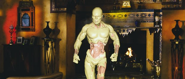 [Figure 3] Imhotep was created by building a complex skin system to simulate the realistic muscle and tendon movements of the character.