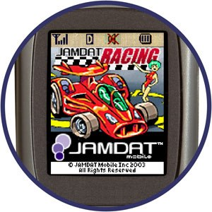 Jamdat has embraced wireless content in a big way. It publishes trivia and pinball games, adventures, wallpaper and ringtones. © 2000-2004 Jamdat Mobile Inc. All rights reserved.