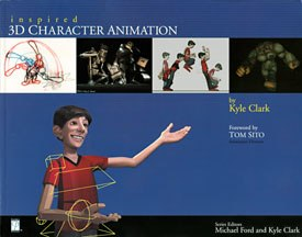 All images from Inspired: 3D Character Animation by Kyle Clark, series edited by Kyle Clark and Michael Ford. Reprinted with permission.