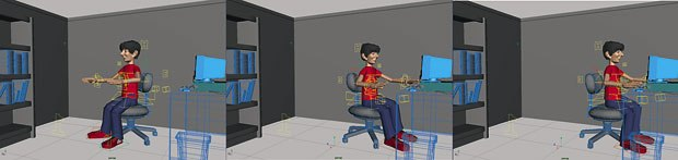 [Figure 6] The spin and approach to the desk.