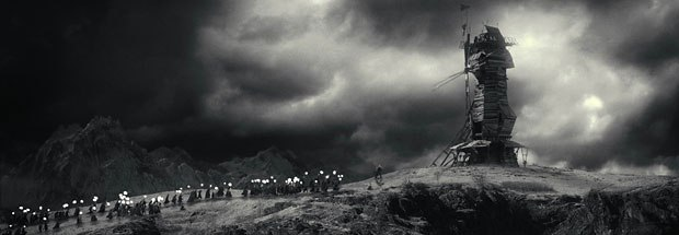 A group of frightened and enraged villagers chase Frankensteins Monster to the top of a windmill Credit: ILM.